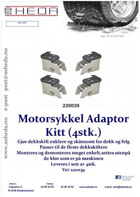 Ver220039 Motorsykkel adapter Apr.2019